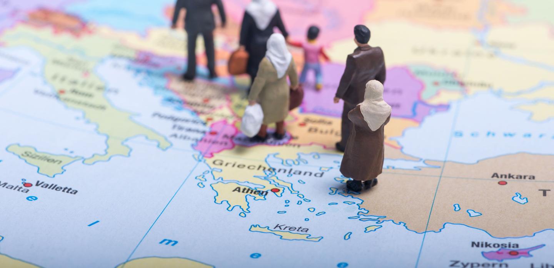 Flüchtlinge auf dem Weg nach Europa